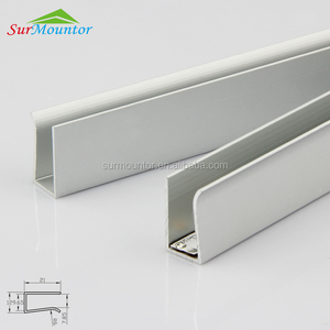 8mm glass edge lighting led aluminium profil