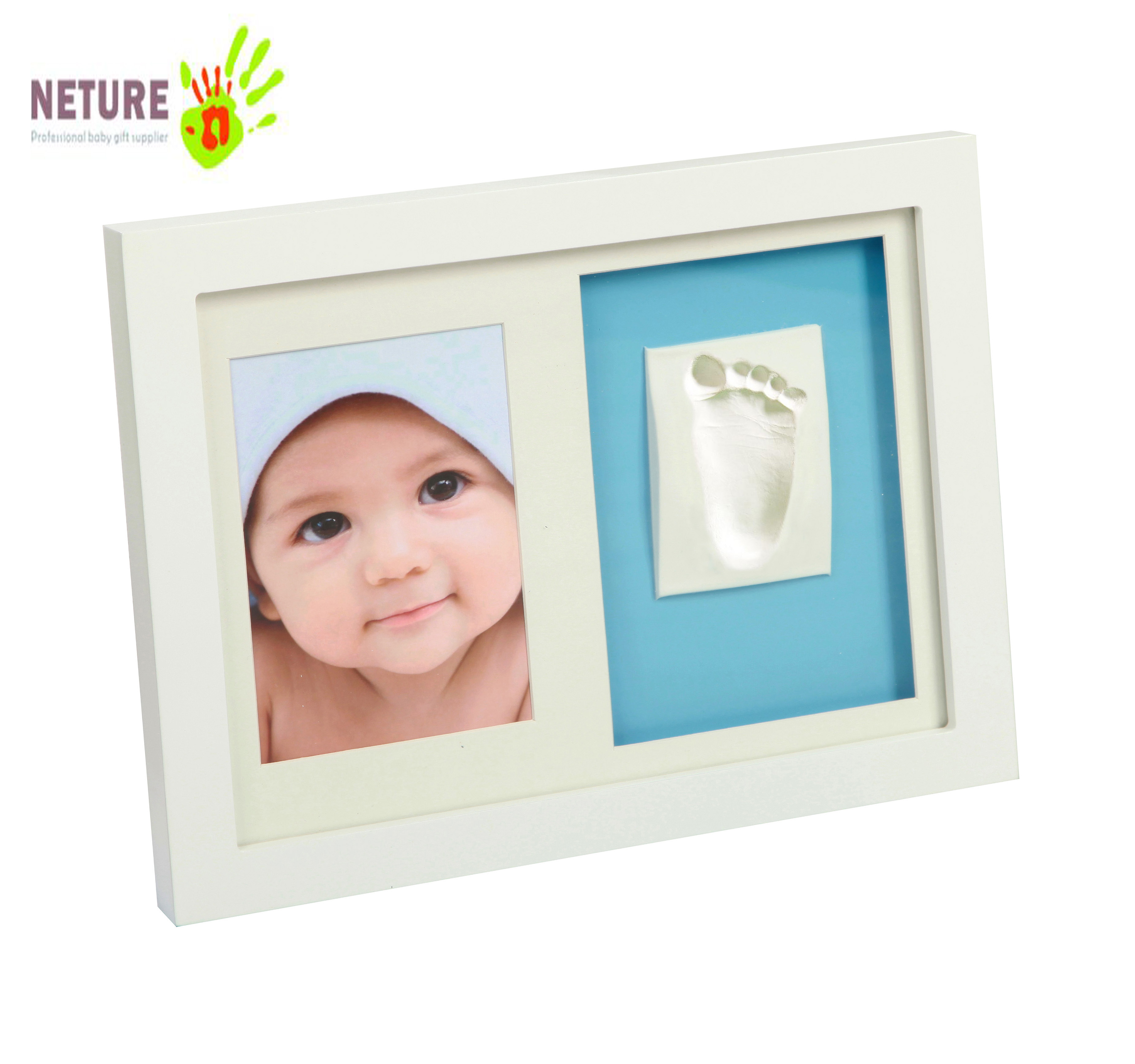 Baby Photo Frame With Child's Handprint And Footprint Photo Frame Baby Boy Girl Family Baby Footprint