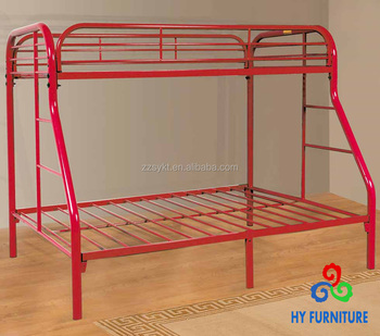 Red Full 3 Person Twin Size Adult Steel Metal Bunk Beds Wholesale