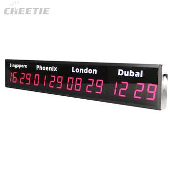Precision New Product Multiple Time Zone Digital Led World Time Wall