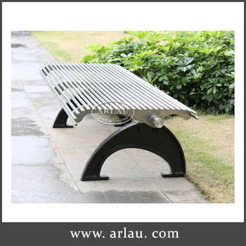 Outdoor Slat Steel Benches, Wrought Iron Patio Benches, Metal Double Chair