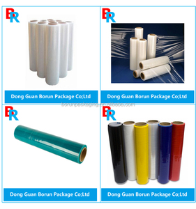 lldpe stretch film/ black color LLDPE handy wrap/pallet stretch wrap