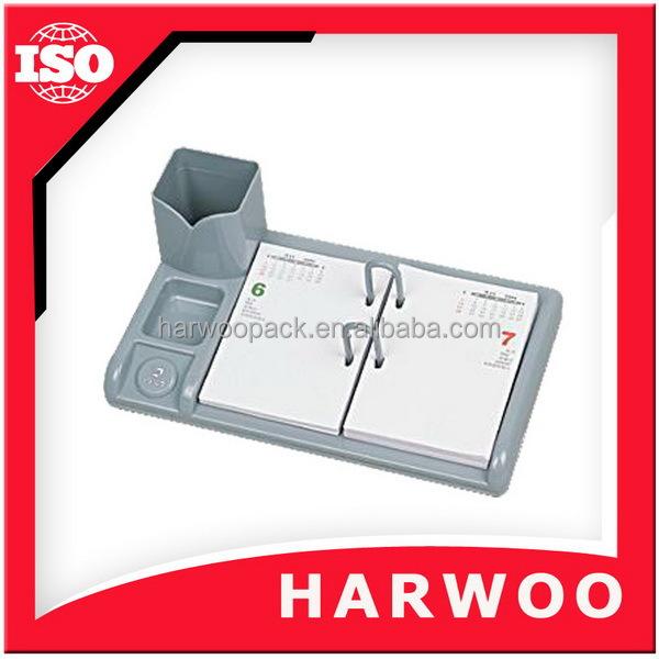 High-end Wooden Desk Calendar For Office With Pen Holder - Buy ...