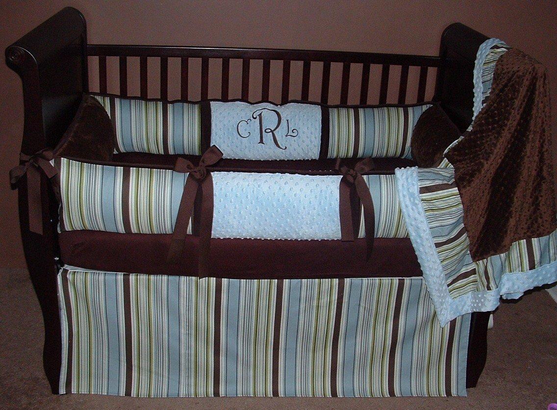 Modpeapod City Boy Stripe Breathable Baby Bedding Set