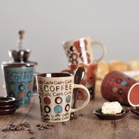 Cheap price ceramic mugs high quality coffee mug with spoon
