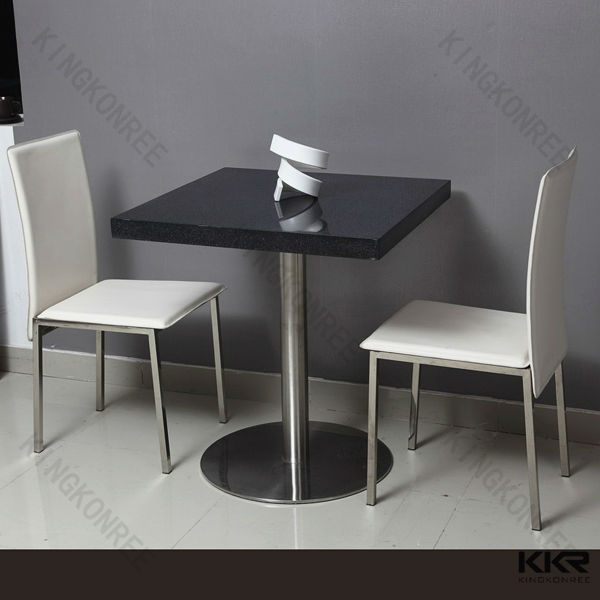 Luxury Acrylic Stone 2 Person Dining Table Set For Product On