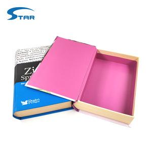 Decorative custom magnetic paper hollow fake book box