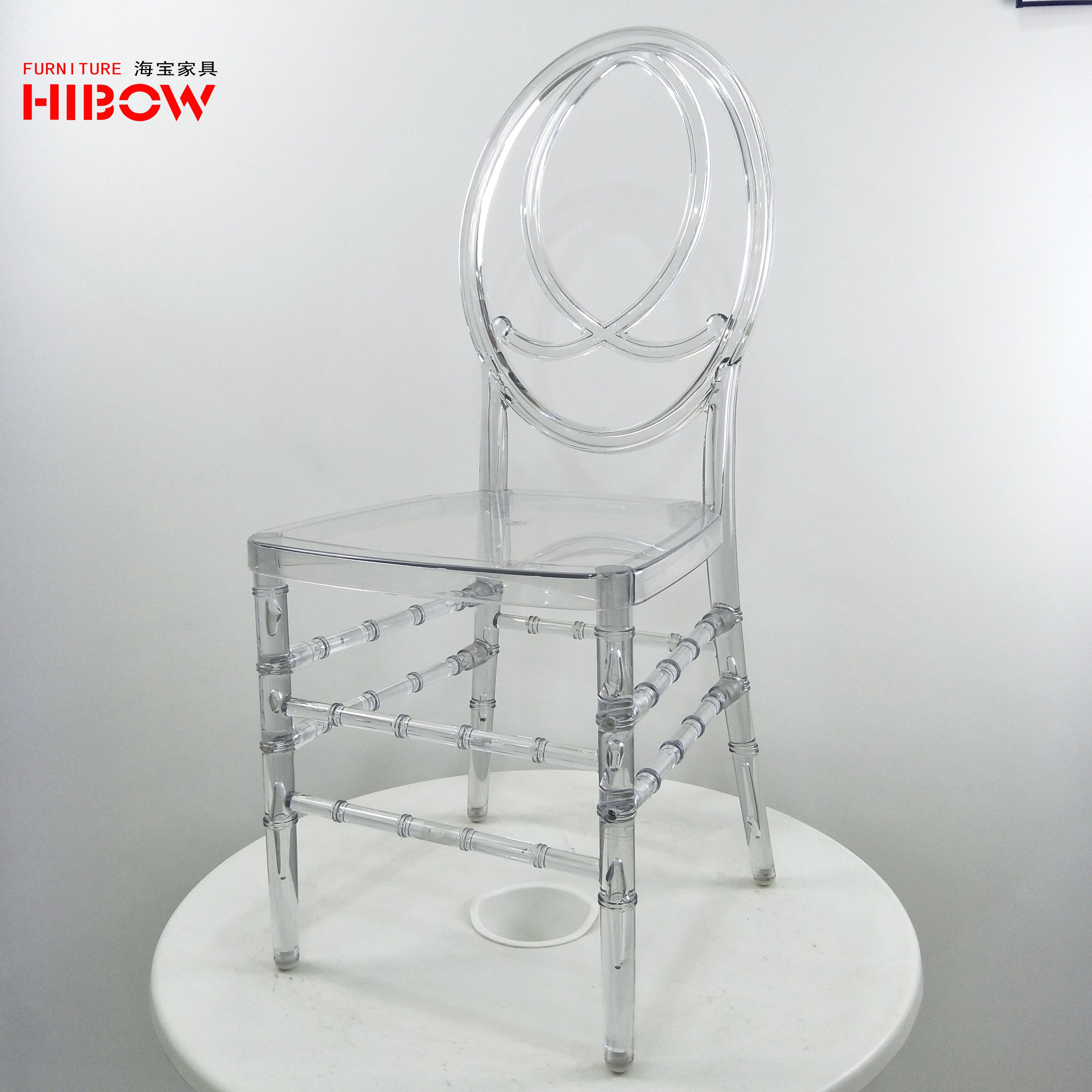 Stacking Crystal Clear Wedding Phoenix Chair Resin Outdoor Event