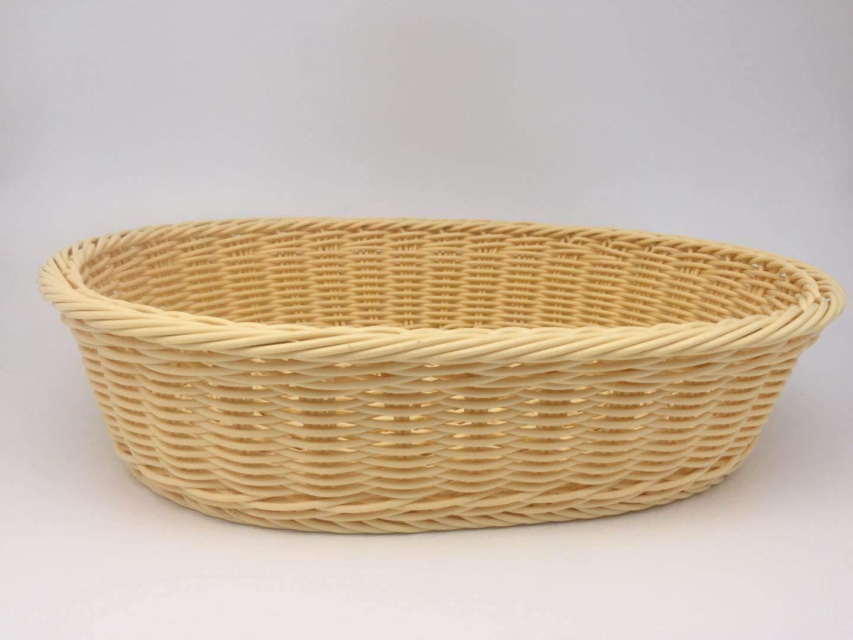 Poly-Wicker Bread Basket,Tabletop Serving Baskets, Bread Roll Basket Baskets