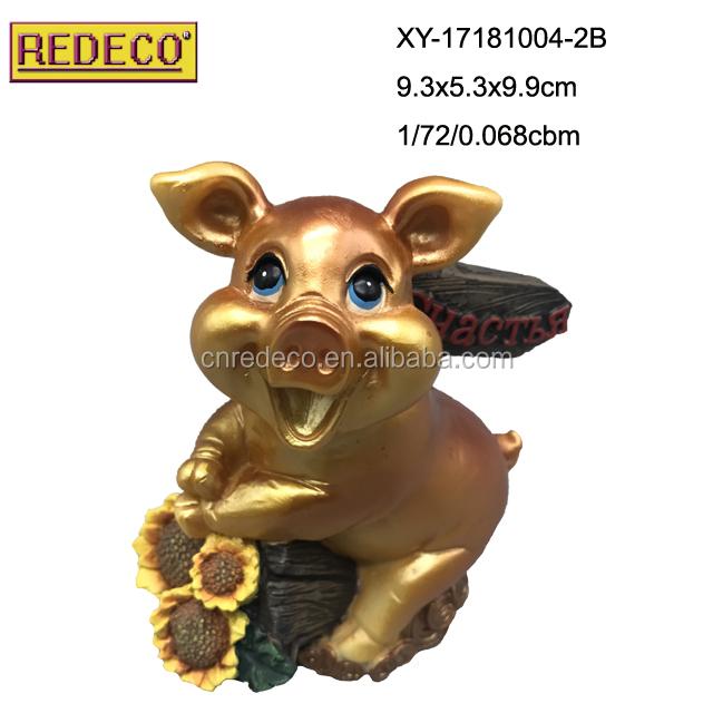 Dekoration Tischdeko Cartoon Resin Pig Mini Schwein Geschenk 10Stück Neu Harz