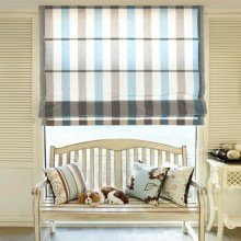 Roman Blinds Shades printed fabric semi-transparent
