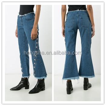 9a8477ac28 Mujer nueva moda modelo de botón vaqueros pantalones vaqueros de mezclilla  pantalones las mujeres hsp2199