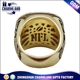 Hot sale men'ring replica championship ring with metal crystal championship ring