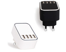 Korea Plug Mobile Phone Accessories 4 Port Usb Wall Charger Travel Usb Home Charger , 4.5A 4 Ports Universal Travel Charger