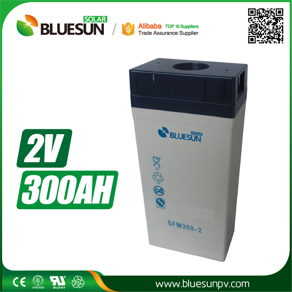 2v 300ah 250ah deep cycle lead acid solar battery with plastic case