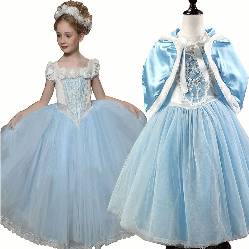 Princess Cinderella Wedding Dress Costume For: Girls Cinderella Princess Dress Costume Pageant Cosplay