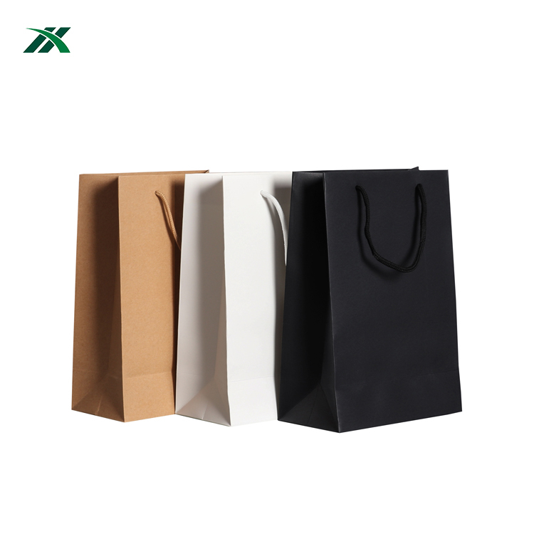 Promotional Christmas gift shopping bags kraft paper for champagne/wine
