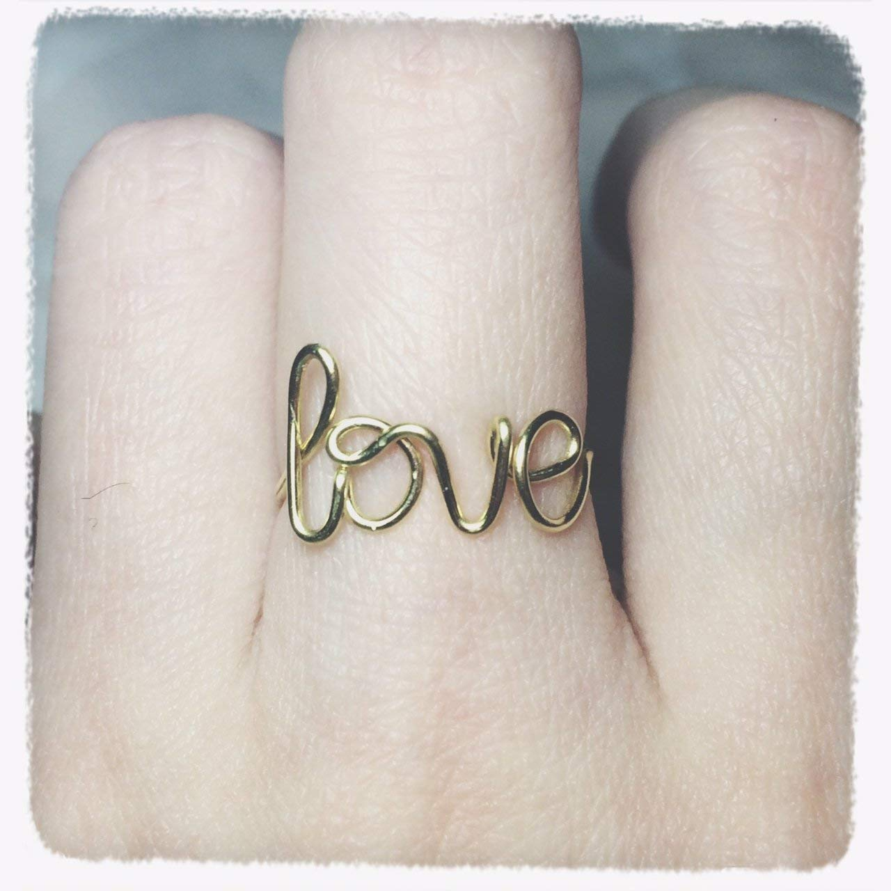 1fe218bdb3 Get Quotations · Love Ring/Promise Ring/gold love ring/silver love ring/Wedding  Gift