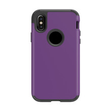 UV frosted plastic phone case for iphone 8 silicone frame 2 in 1 shockproof corners design for iphone 8 case