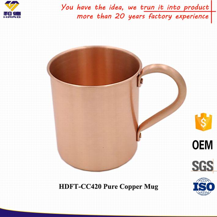 2016 Christmas Items Wholesale , 420 ML 100% Copper Mugs