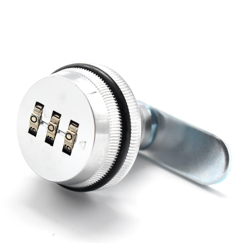 Rarelock 3 Digit Combination Cabinet Cam Lock Set Your Own Password for Mailbox, Storage Box, Drawer, Gym School Locker, Jewelry Case