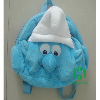 HI hot cute blue-wizard cartoon birds kids backpack plush bags for sale 08c4779deee1