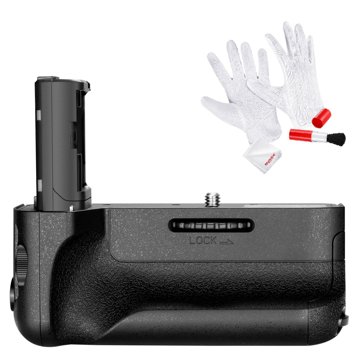 Neewer VG-C2EM Replacement Vertical Battery Grip, Works with NP-FW50 Battery for SONY A7 II and A7R II Cameras, Includes 3-In-1 Cleaning Kit (Anti-static Gloves, Lens Brush, Microfiber Cleaning Cloth)