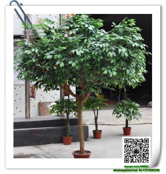 SJRS 02 Artificial Indoor Plants Banyan Bonsai Tree China Wholesale Ficus  Retusa Bonsai