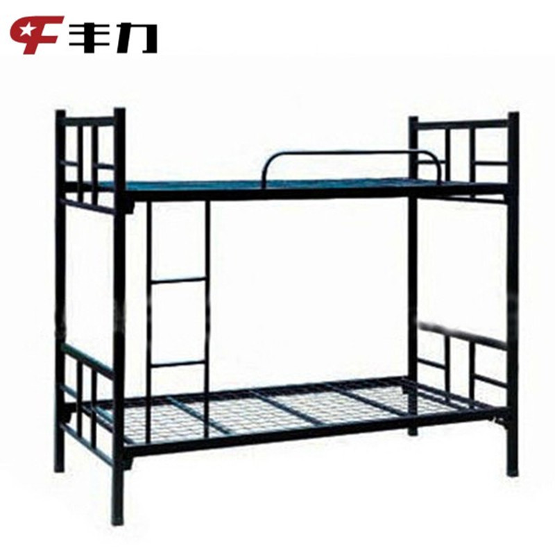 Double decker bed finest metal double deck bed metal for Double decker crib