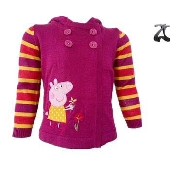 New Arrival Knitting Patterns Children Cartoon School Sweater