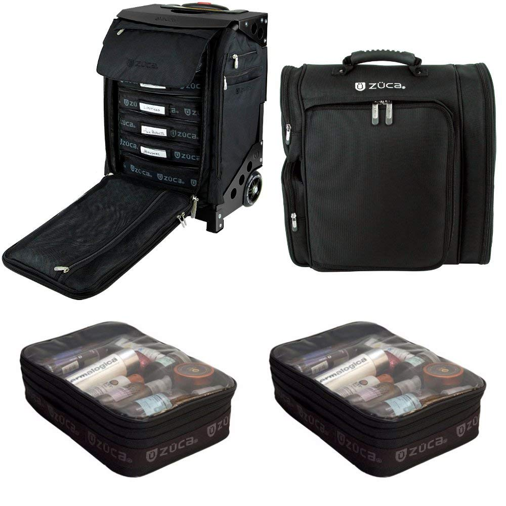 ZUCA Professional039;s Kit: Flyer Case with Built-In Seat, and Artist Backpack with Extra Pouches