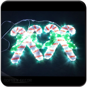 Christmas Outdoor Decoration Lighted Candy Cane Light Christmas