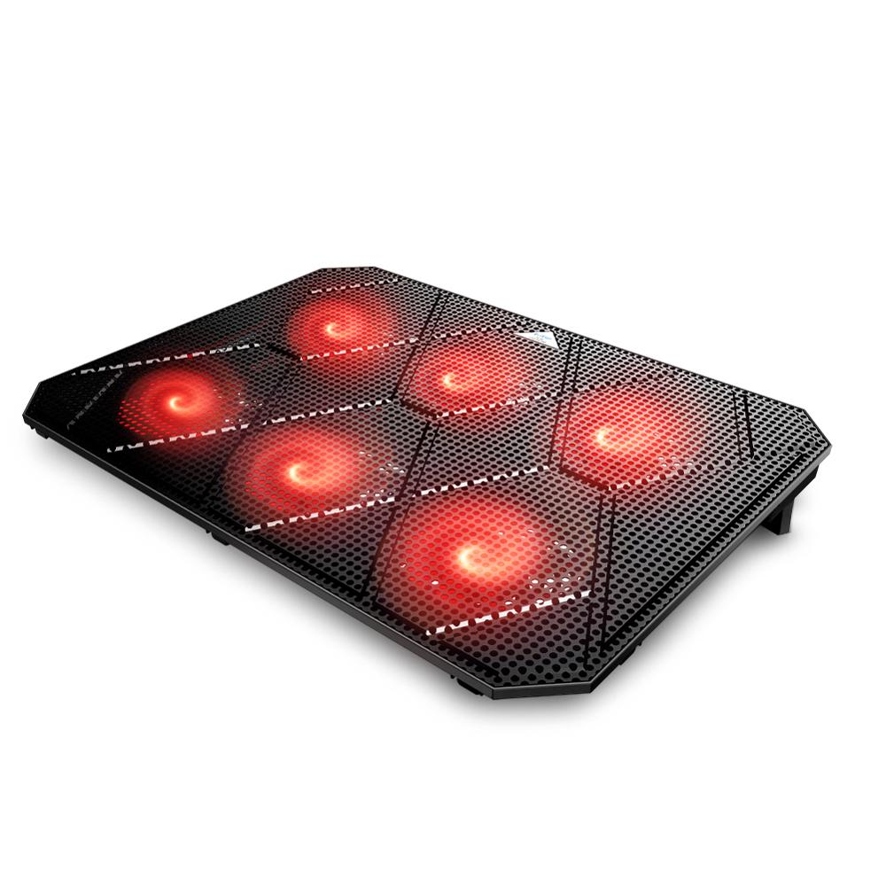 <strong>Laptop</strong> cooler 6 silent led <strong>fans</strong> usb <strong>laptop</strong> <strong>cooling</strong> pad ajustable gaming notebook cooler <strong>for</strong> 17 Inch <strong>laptop</strong>