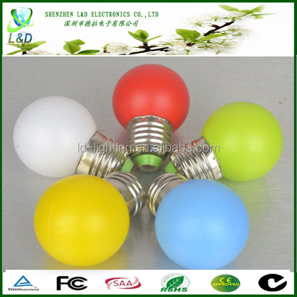 1W-20W e27 remote control 16 color rgb led bulb light