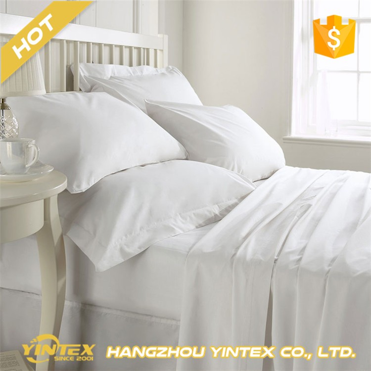Luxury bed sheet 100% cotton white hotel bed sheet sets/bed linen