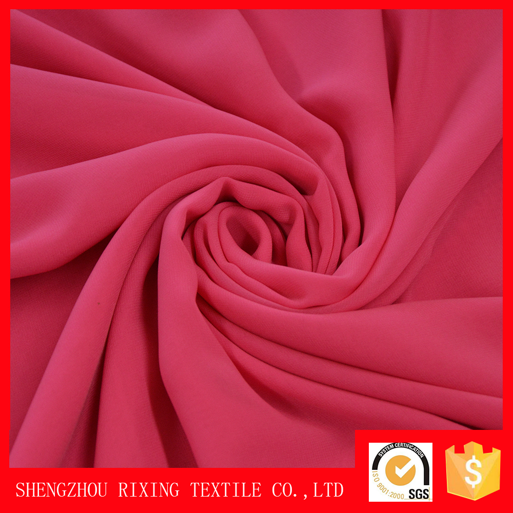 100% poly super soft chiffon fabric rolls of shaoxing textile