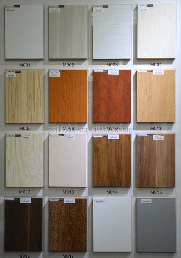 Maple wooden grain color melamined mdf chipboard