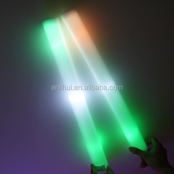 Colorful led foam flashing light wand with logo foam glow stick
