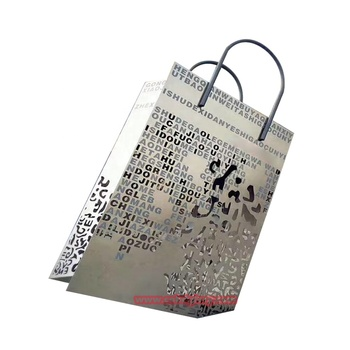 Square Garden Decoration Stainless Steel Hollow Shopping Bag Sculpture