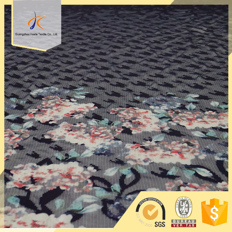 black flower 2017 new design net embroidery lace fabric for dressing fabric dressing lady 100%polyester