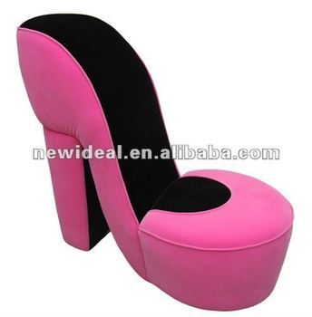 Fabric High Heel Shoe Shaped Chairs N072