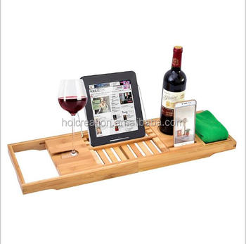 Bamboo Bathtub Caddy And Tray Create Your Own Spa At Home ...
