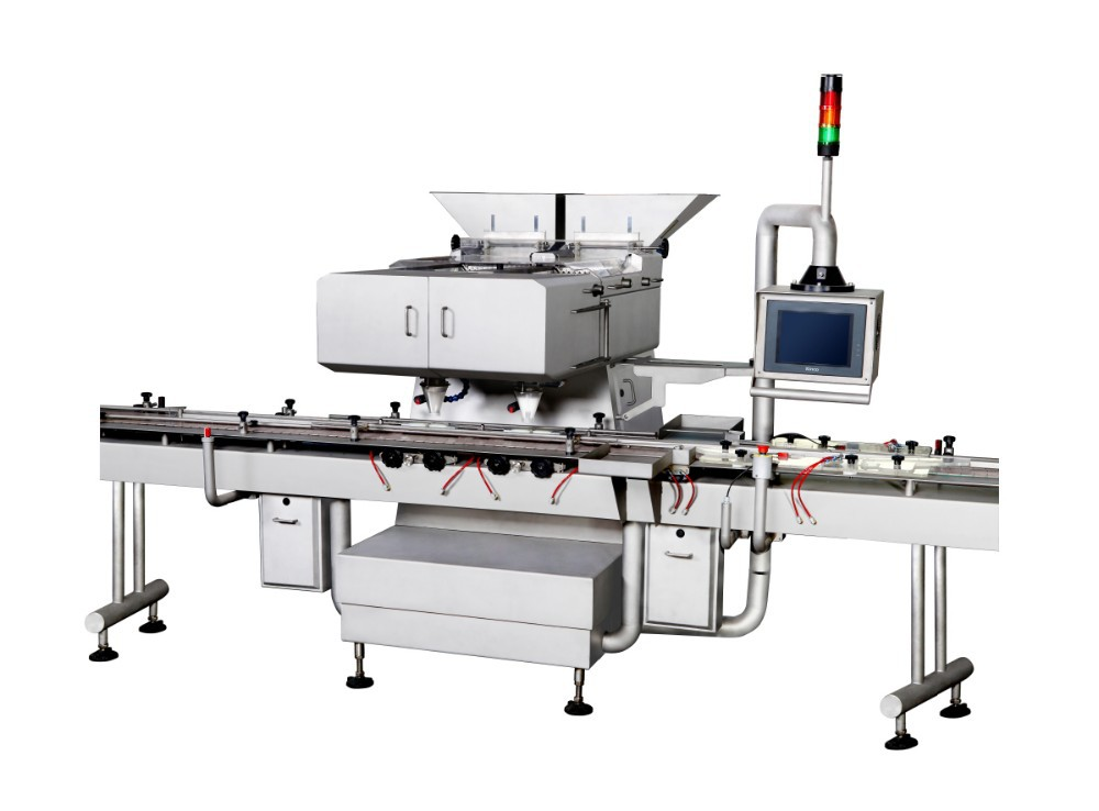 Rail- mounted electronic granule-counting counting machine