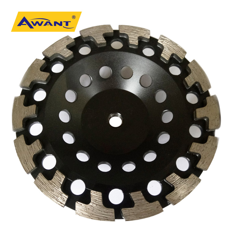 "5"" T-Segment Diamond Grinding Cup Wheel for Concrete Stone Masonry 7//8/""-5//8"""