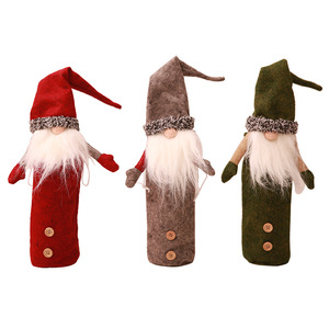 Christmas Decoration Santa Claus Wine Bottle Set Restaurant Festive Dress Up