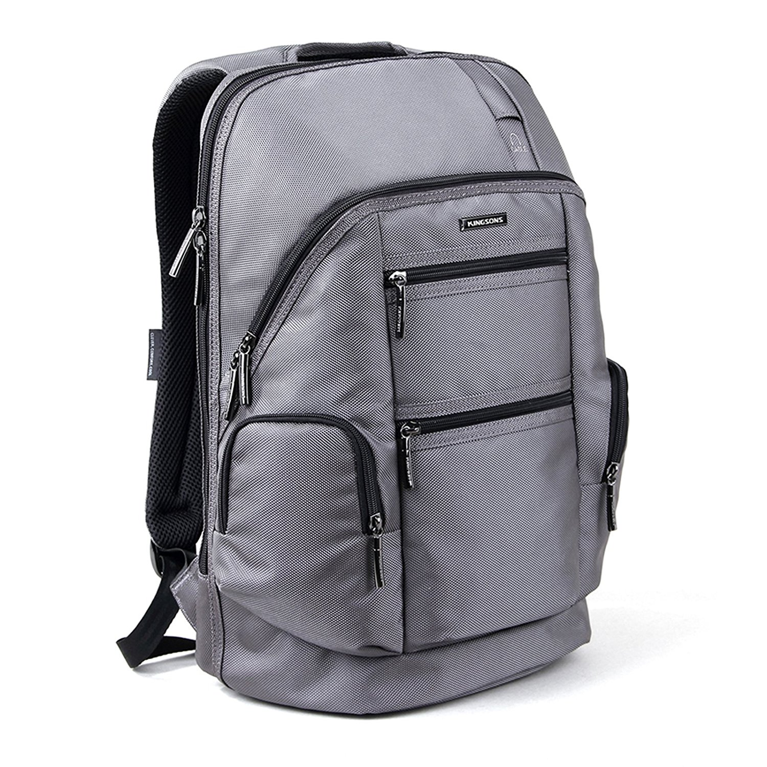 Laptop Backpack, KINGSONS 15.6 Inch Shockproof Backpack Outdoor Luggage Knapsack Hiking Camping Rucksack Computer Bag for Laptop / Notebook / MacBook / Ultrabook /Tablet - Grey