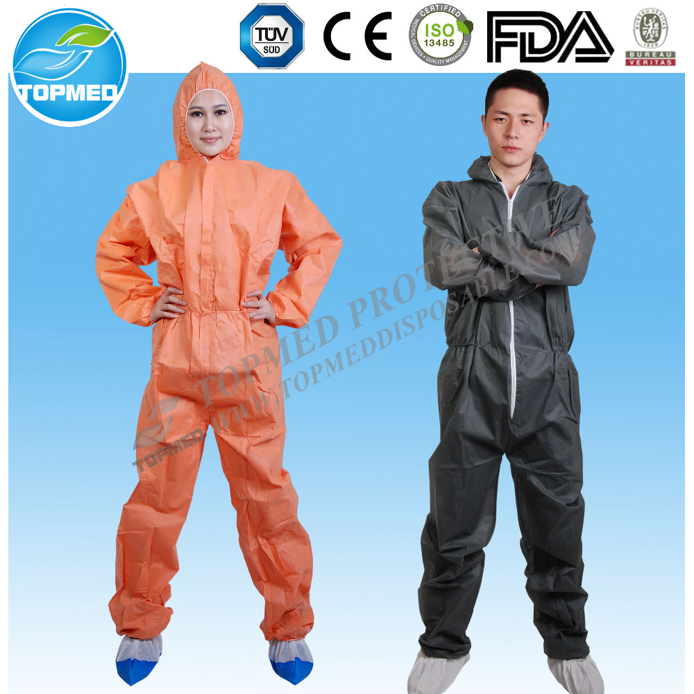 Disposable protective whole body suit,chemical-proof suit coverall