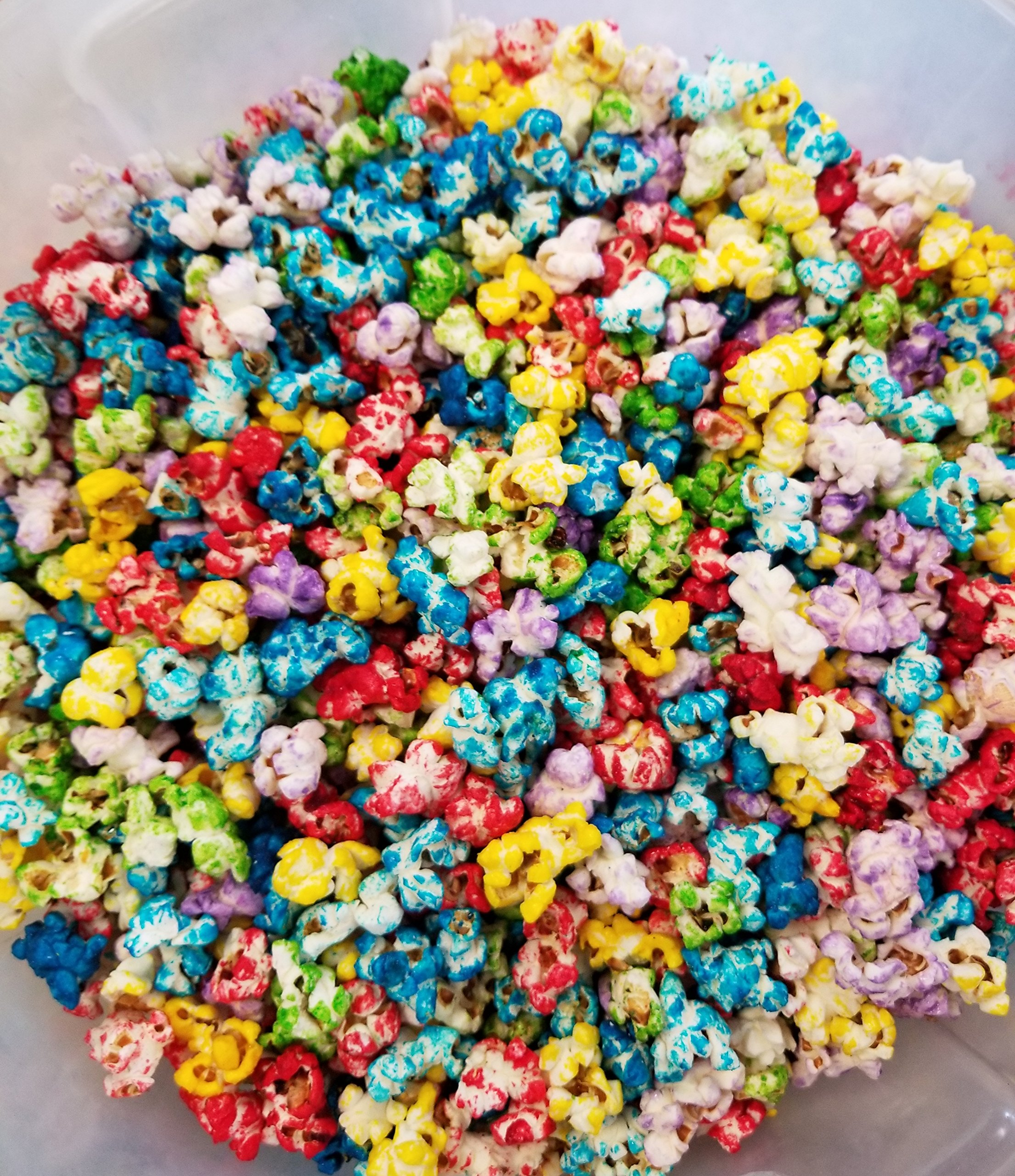 Uncle Pops Rainbow Popcorn - 5 Gallons - 60 OZ of Rainbow - Stays FRESH in Resealable Bag