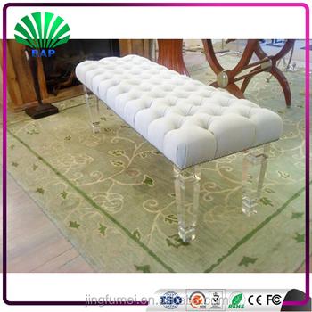 Modern Acrylic Leg Banquet Shoes Changing Stool Sex Lounge Sofa Chair