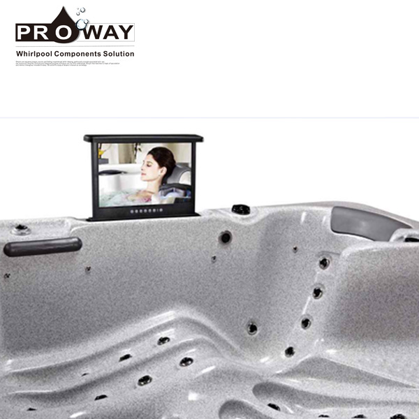 "17"" Waterproof Television with Movie Player LCD Pop-up TV Outdoor Spa"